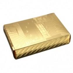 2X (arany fólia póker, euró stílusú műanyag póker játékkártyák, vízálló kártyák M9R7