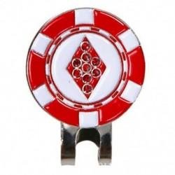 3X (mágneses kupakkal levehető fém négyzet alakú Golf klipek. Ez érdekes si E4M1