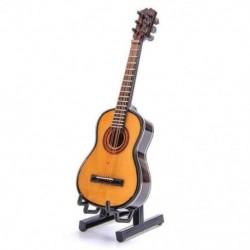 Fa mini díszek Gitár Hangszer Miniatűr Dollhouse modell H O2F5