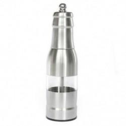 304 rozsdamentes acél borsdaráló manuálisan állítható daráló ezüst U1E1