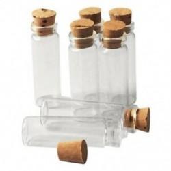 6X (20 db 11X32Mm apró mini üres átlátszó parafa üveg palackok 2 ml K7X6 üveg)