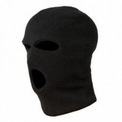5X (3 lyukú rendőrségi maszk / motorháztető színű fekete rendőrség - SWAT - Gign - Raid - Spe H3L0