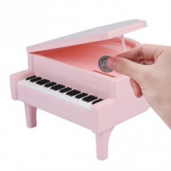 4X (Piano-stílusú érmebank érmék megtakarító pénztárca Jar születésnapi ajándék ChildM8M4