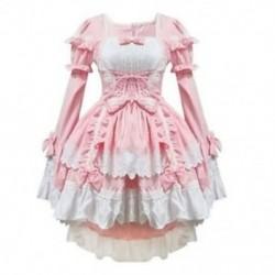 Rózsaszín jelmezek szobalány ruhák anime ruházat cosplay N0S7