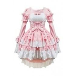 1X (rózsaszín jelmezek szobalány ruhák anime ruházat cosplay W7M1)