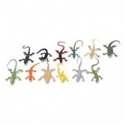 6X (12, gyermekek gekkó játékállatainak modelljei, Simulat W7F3 figurák)