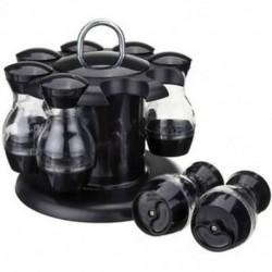 4X (só- és borsrázók 8 üvegből, 360 ° forgó tartóval - SaltD5K4