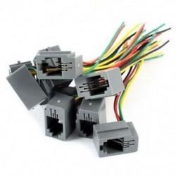 10 db 616E 4P4C RJ9 női telefoncsatlakozó adapter 4 vezetékkel, 8 cm-es W8P1
