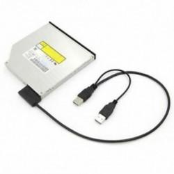 Vékony SATA kábel, USB 2.0 - 7   6 külső tápellátás a laptop SATA adapterhez, Conve X0V7
