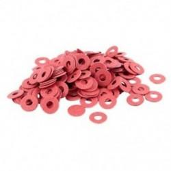 1X (200 db 3x8x0,7 mm szigetelt szálas szigetelő alátétek, távtartók, piros Y3A3)
