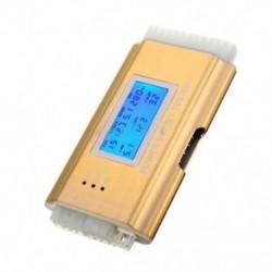 LCD PC tápegység tesztelő tápegység 20/24 tű 4 PSU ATX BTX ITX SATA HDD arany M0S8