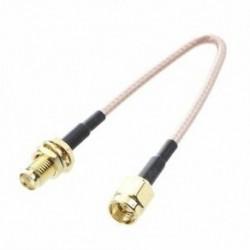 1X (SMA aljzat SMA hüvelyes F / M antenna csatlakozókábel adapter fekete   arany U8E2)