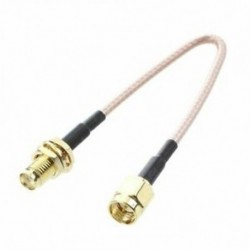 2X (SMA aljzat SMA hím F / M antenna csatlakozókábel adapter fekete   arany X2G7)