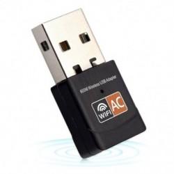 Vezeték nélküli 600Mbps USB wifi adapter AC600 2.4GHz 5GHz WiFi antenna PC Mini Co Q3O6