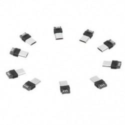 10 db A-típusú micro USB típusú 5-pólusú csatlakozók csatlakozója, U3J5