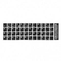 2X (Fehér betűkkel francia Azerty billentyűzet matrica borító fekete a T3M4 laptophoz)