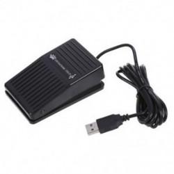 1X (USB lábpedál kapcsoló vezérlő billentyűzet művelet PC számítógépes játékokhoz Új K6D5