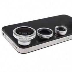 3x fényképezőgép-objektívkészlet iPhone 4 4S iPad halak szemlencséhez széles látószöggel   mikrolencsével BT