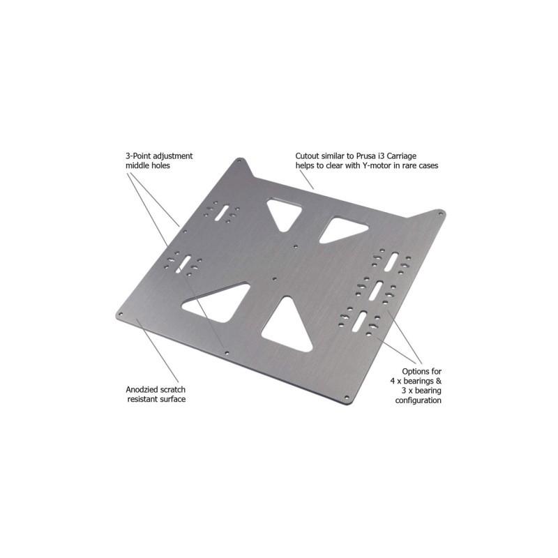 1X (V2 alumínium Y szállítólemez frissítés Prusa i3 stílusú
