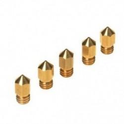 5PCS 3D nyomtató, 0,4 mm-es extruderes sárgaréz fúvóka nyomtatófej, MK8 1,75 mm, ABS P L5D9