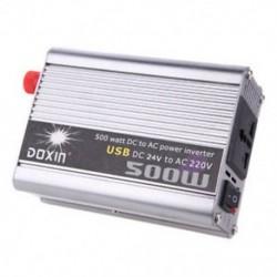 Doxin 500 Watt   USB hordozható feszültségváltó DC 24 L8U8 feszültségváltó