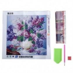 1X (Lavender 5D gyémánt hímzés, barkács kézműves festés, keresztöltés) (Lavender V3B6