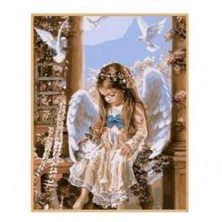 DIY 5D gyémánt hímzés gyönyörű angyal baba festés kereszt tűvel otthon D V2I7
