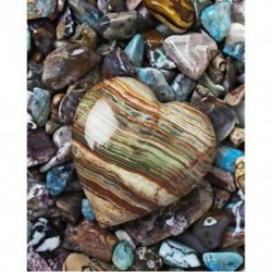 1X (5D Diy teljes négyzet alakú fúró gyémántfestés hímzés szív alakú kő A5S8