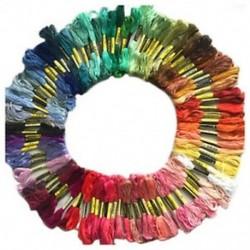 100 gombolyag színes hímzett szál, pamut kereszttű kézműves, varrás varjú V1O8