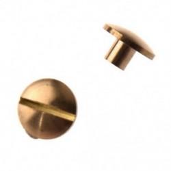 4mm - 10x íves masszív sárgaréz gombos csavar köröm csavarral vissza Bőr szegecs öv TG