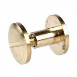 6mm-es - 10db Íves fejű sárgaréz szegecs ruha - táska - karkötő - különböző tárgyak díszítéséhez - TG