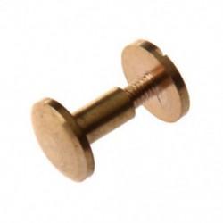 8mm - 10x íves masszív sárgaréz gombos csavar köröm csavarral vissza Bőr szegecs öv TG