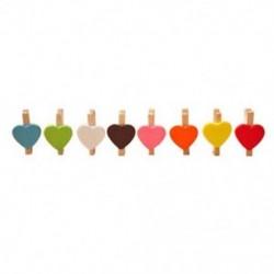 Mini édes szerelem szív alakú fa klipek Üzenet Fotótartó kártya Papír Pe G1U9