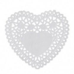 100x4 hüvelykes fehér szerelem szív papír csipke szalvéta szalvéta W5F1 hulladékkártya készítéséhez