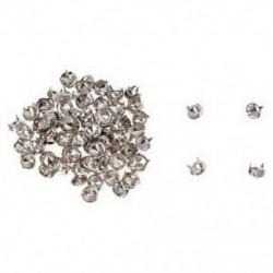 100 ezüst réz kerek kúpos szegecs szegecsavarral ellátott pontok DIY Rock Punk 8mm I9Y8