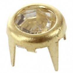 20 x 7 mm-es fém kristály szegecsekkel díszített arany díszcsavarok, kerek csapok a Footwe T4Y2-hez