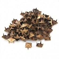 1X (100 db 12 x 12 mm-es fém DIY szegecsekkel, gótikus bronz színű P9V1)