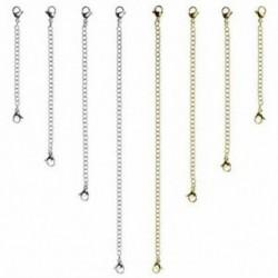 1X (8 db rozsdamentes acél nyaklánc-hosszabbító karkötő-hosszabbító P1I4