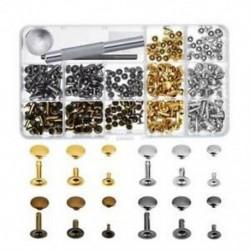 Szegecselő készlet - 180db Üreges fém szegecs fém színekkel táskák - övek - pénztárcák - karkötők készítéséhez