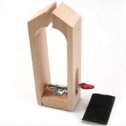 Bőr kézműves rögzítő bilincs fa szerszámok Kéziszerszámkészlet asztali Stitchi S1F4