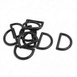 1 &quot javító alkatrészek fekete műanyag D gyűrűs csat a hátizsák táska számára, 10 db P9J4