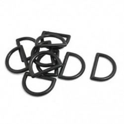 1 &quot javító alkatrészek fekete műanyag D gyűrűs csat a hátizsák táska számára, 10 darab B6I3