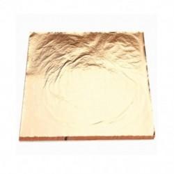 1X (100 lapos utánzat, arany réz-levél fólia papírra aranyozott művészeti kézműves 14X14CN9J6)