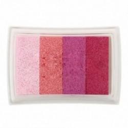 1X (Színátmenet többszínű festékbélyegző-tintapatron mosható gyermekek tintabélyegzője O6I4)