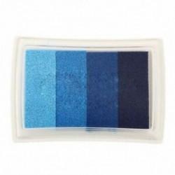1X (kék multi gradiens 4 színű tintasugaras bélyegzőpad tintapatron olaj alapú tintapatron gyermek A8F2
