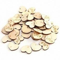1X (150 db fa szív kézműves szerelem alakú esküvői dekorációhoz - 15X12Mm C3D9)