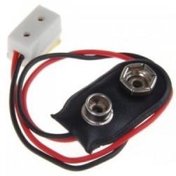 Dollhouse miniatűr 9 V-os akkumulátor-csatlakozó vezetékkel és LA00 H5H2 egyedüli csatlakozóaljzattal