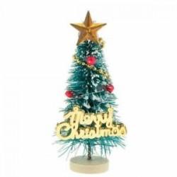 1: 12 Dollhouse miniatűr karácsonyfa &quot Boldog karácsonyt&quot  betűk táblája Wo L9K1