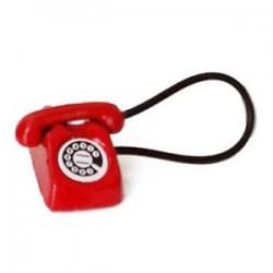 Piros - 1X (1:12 Dollhouse Miniatűr Régimódi Vintage telefontelefon G9G5)