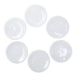 5x 1:12 babaház mini kerámia edény fehér mini étel jelenet modell babaház R3J1